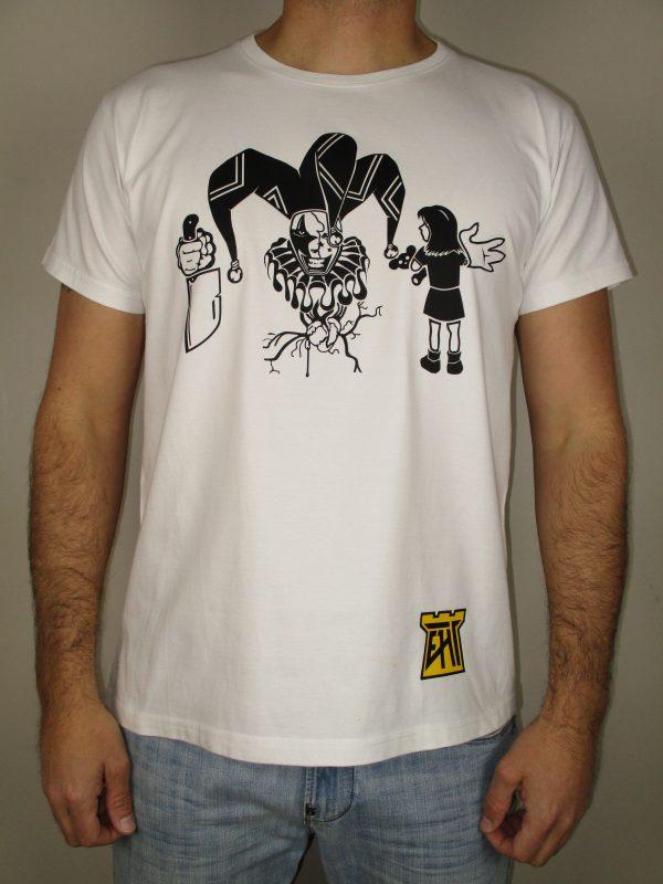 EHT Harapos hecho en España calidad español camiseta moderna payaso malo niña blanca calidad Triyi